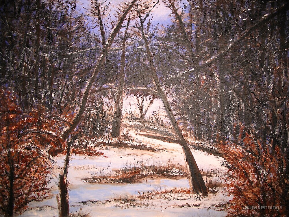Snowy Woods by LauraJennings