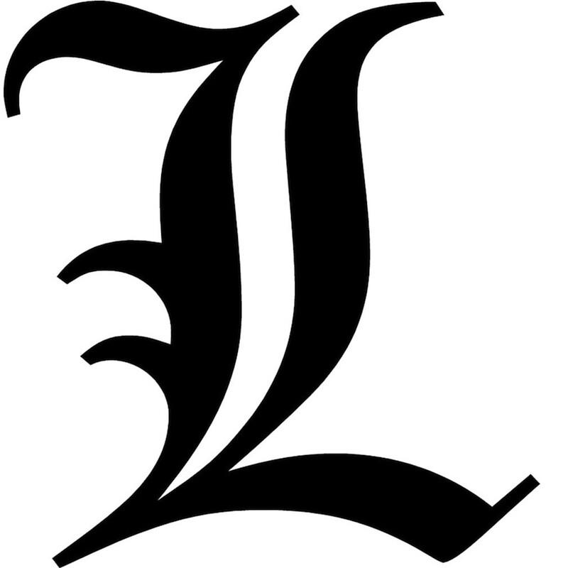 Quot L S Letter Death Note Quot By Liquid Vinyl Redbubble