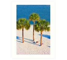 Lazy Afternoon Under The Palm Trees 2 Art Print