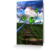 Love Crazed Perigee Moon Worms Greeting Card