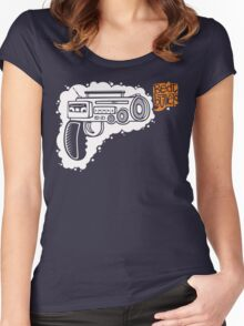 Music Machine Gun Women's Fitted Scoop T-Shirt