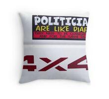 American Lit Throw Pillow