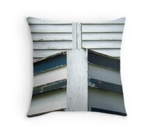 Canal Boat Bow Throw Pillow