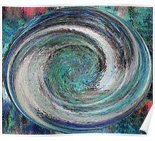 Blue swirls Poster