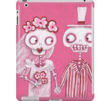Pink Skelly Bride and Groom iPad Case/Skin