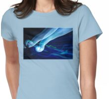 Epcot light trails  Womens Fitted T-Shirt