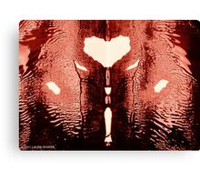 INKBLOT HEART Canvas Print