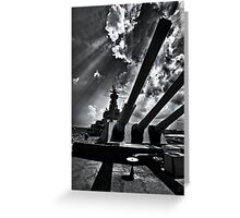 Sixteen Inch Guns of Alabama Greeting Card