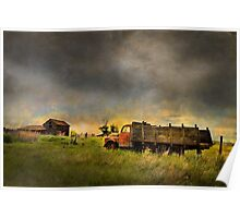 ABANDONED FARM TRUCK Poster