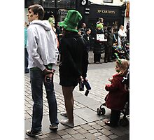 Difference between teens and kids at a parade Photographic Print