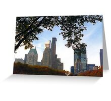 NYC View from Central Park Autumn Foliage Greeting Card