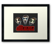 Supernatural Puffs Parody Framed Print