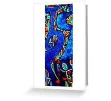 Blue Letter Greeting Card