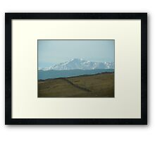 Pikes Peak ..headed south Framed Print