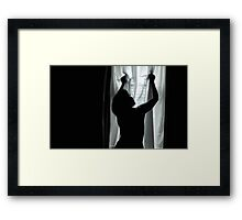 ... come back to bed Framed Print