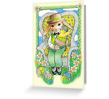 Easter Rabbit's Surprise  Greeting Card
