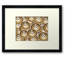 Latte Hearts Framed Print