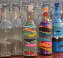 Sand art bottles by Ben Waggoner