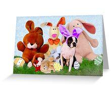 Easter Boston Bunnies .. Greeting Card