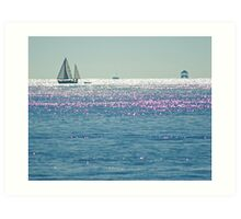 Sailboat + Waterbound Structure Art Print