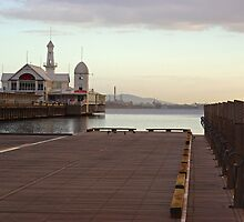 Pier Building and Wooden Mooring Posts by TeaCee