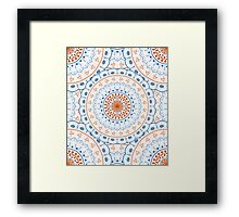 White Red Blue Mandalas Framed Print