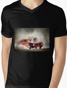 FRYZEM burnout Mens V-Neck T-Shirt