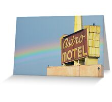 Astro Sign with Rainbow  Greeting Card