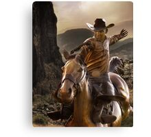 Canadian Rodeo Cowboy Canvas Print