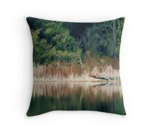 Sasamat Lake Shoreline- Simplified Throw Pillow