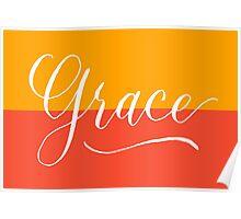Grace - Modern Calligraphy Name Design Poster