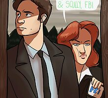 Mulder and Scully, FBI by snipurrs