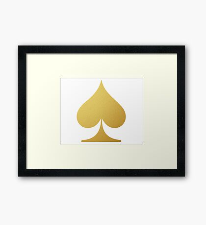 Golden Spade Framed Print