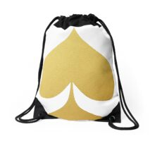 Golden Spade Drawstring Bag