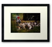 Horse & Hounds Framed Print