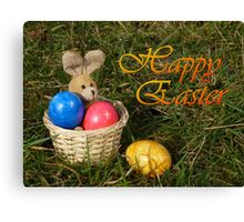 Lost Egg Happy Easter Greeting Card Canvas Print