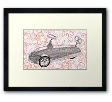 Toycar flowerpower Framed Print