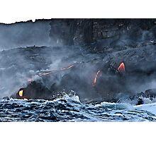 Lava Flow at Kalapana 9 Photographic Print