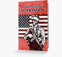 American soldier military serviceman hero Greeting Card