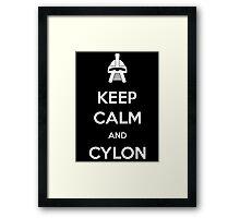 Keep calm and Cylon Framed Print