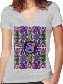 String Cheese Incident - Trippy Pattern Women's Fitted V-Neck T-Shirt