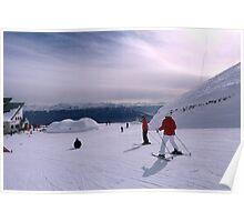 Ski slopes, Innsbruck Poster