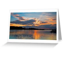 Smith's Lake, Forster Sunset Greeting Card