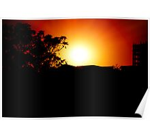 Silhoutte Sunset Poster