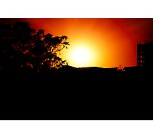 Silhoutte Sunset Photographic Print