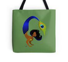 Tropical Peacock Mermaid Tote Bag