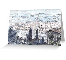 Florence From Fiesole Greeting Card