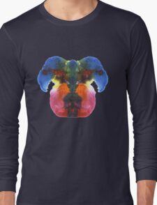 Dog head splat Long Sleeve T-Shirt