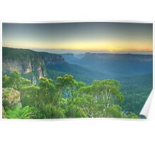 Wilderness - Grose Valley, Blue Mountains World Heritage Area, Sydney Australia - The HDR Experience Poster