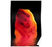 Big Rock Salt with refelctions Poster